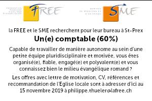 La FREE et le SME recherchent leur futur(e) comptable à 60%